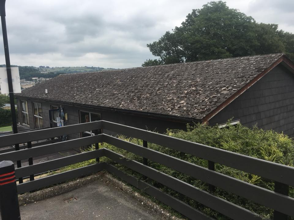 Old slate roof before repair