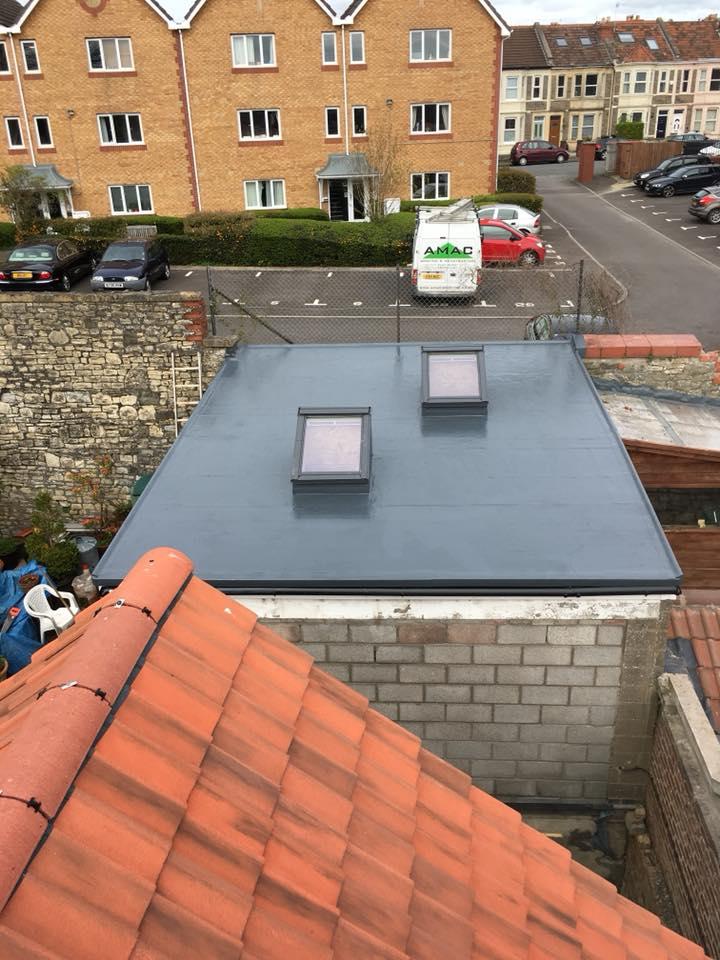 Garage roof under construction
